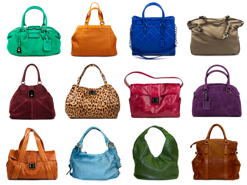 Set of multicolored female bags-7